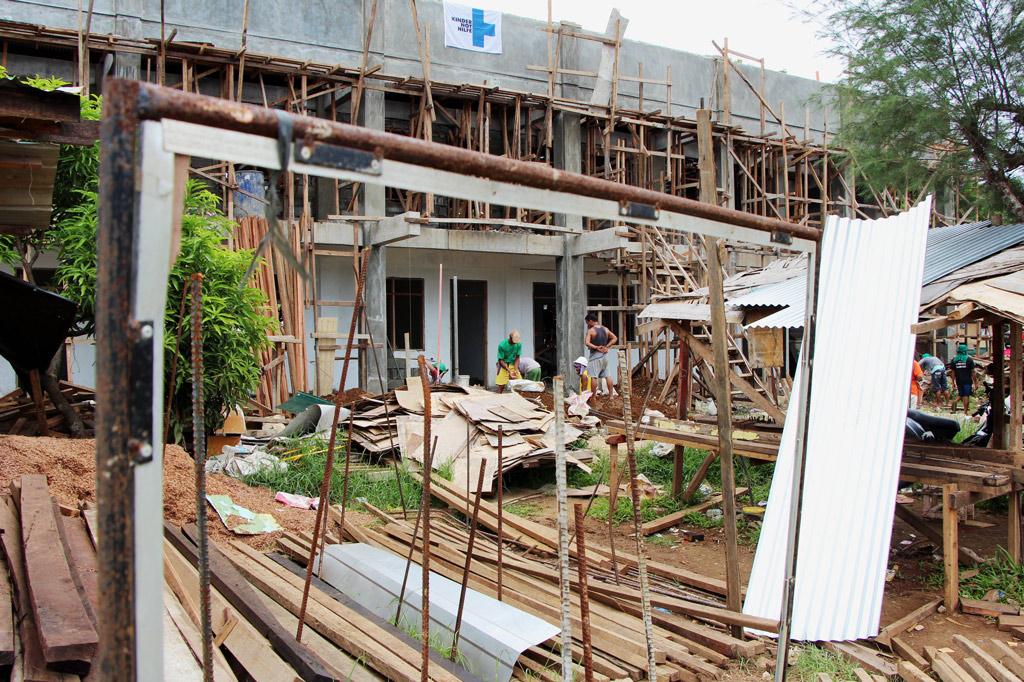 Wiederaufbau nach dem Taifun Haiyan, die im November 2013 die Philippinen verwüstete.