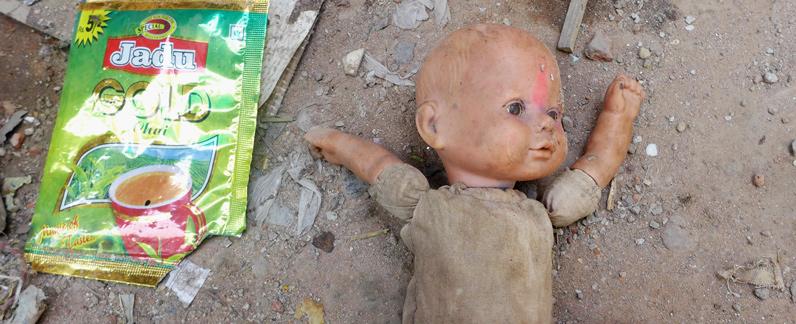 Indien Projektreise Besuch bei Müll sammelnden Kindern in Delhi