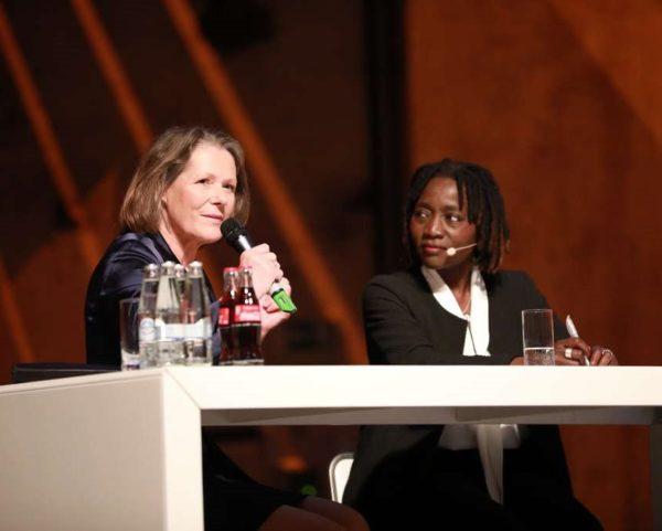 Kindernothilfe-Botschafterin Christina Rau mit Dr. Auma Obama. (Quelle: Ralf Krämer)