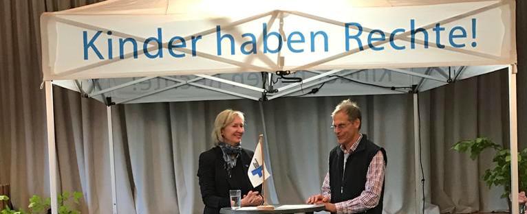 Jubiläum in Angeln mit Katrin Weidemann, Vorstandsvorsitzende der Kindernothilfe