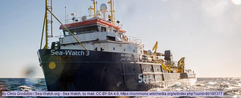 Seenotrettung: Das NGO-Rettungsschiff Sea Watch 3 auf hoher See