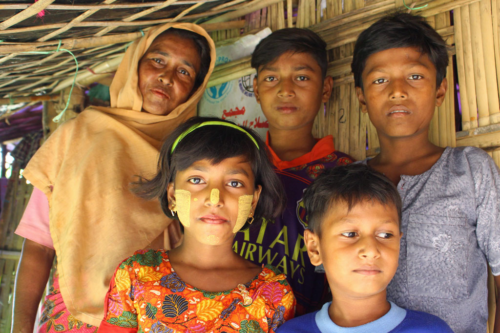 Rohingya Familie in Bangladesch