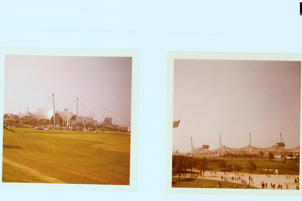 Olympiastadion München in Aufnahmen von 1972